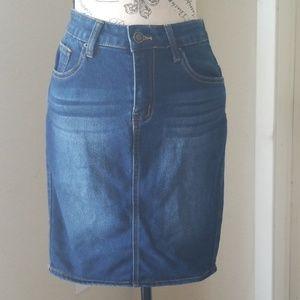 Angel Kiss Denim Jean Skirt Size Small
